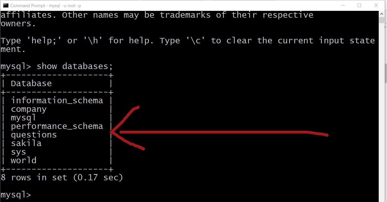Working with MySQL Command Line