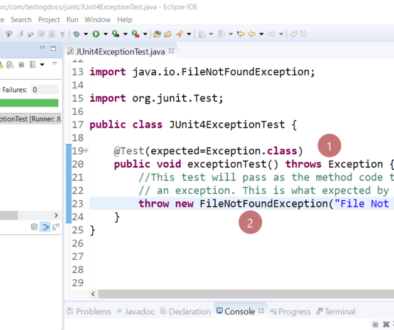 Subclass exception JUnit