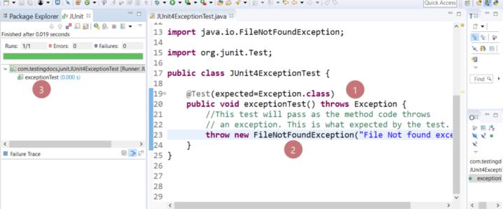 Subclass exception JUnit