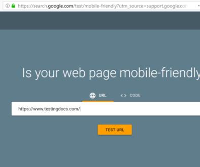 Test webpage url