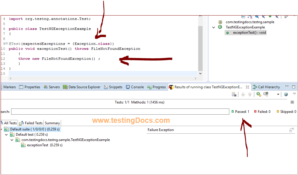 TestNG_Exception_Example1