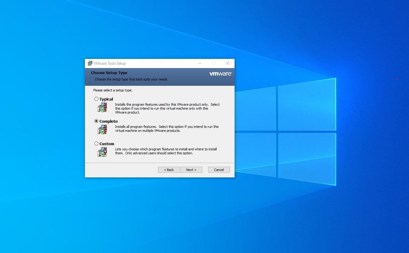VMWare Tools Install