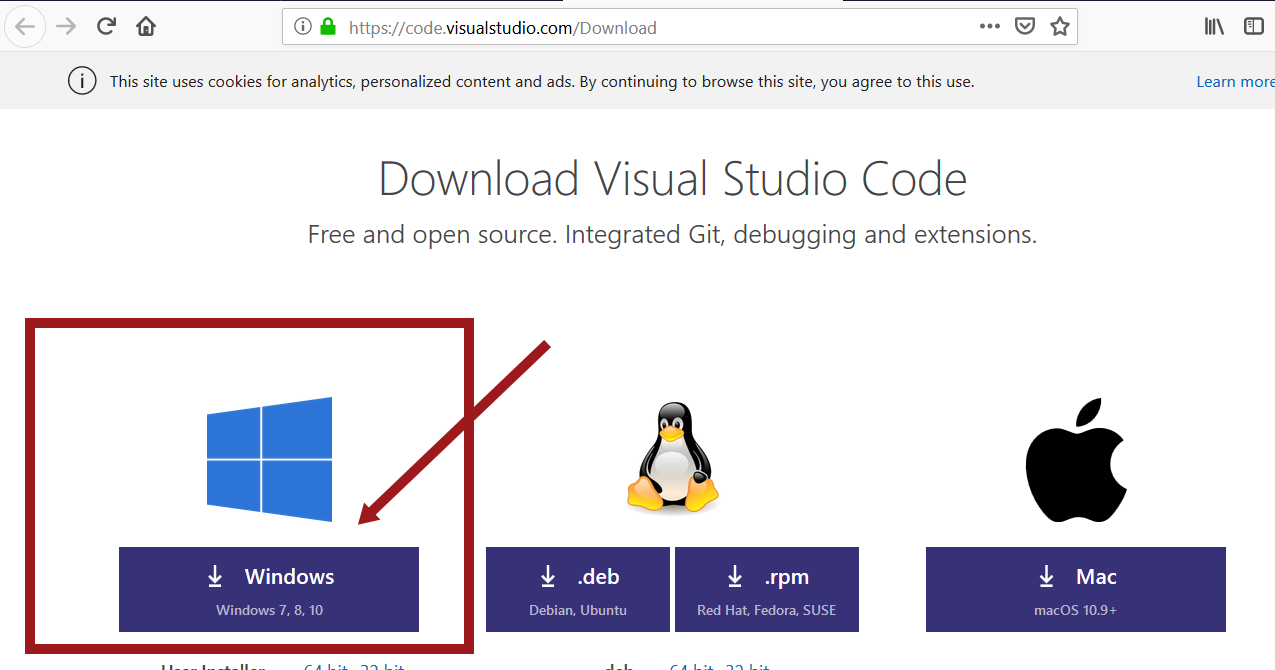 Install Visual Source Code IDE on Windows 10