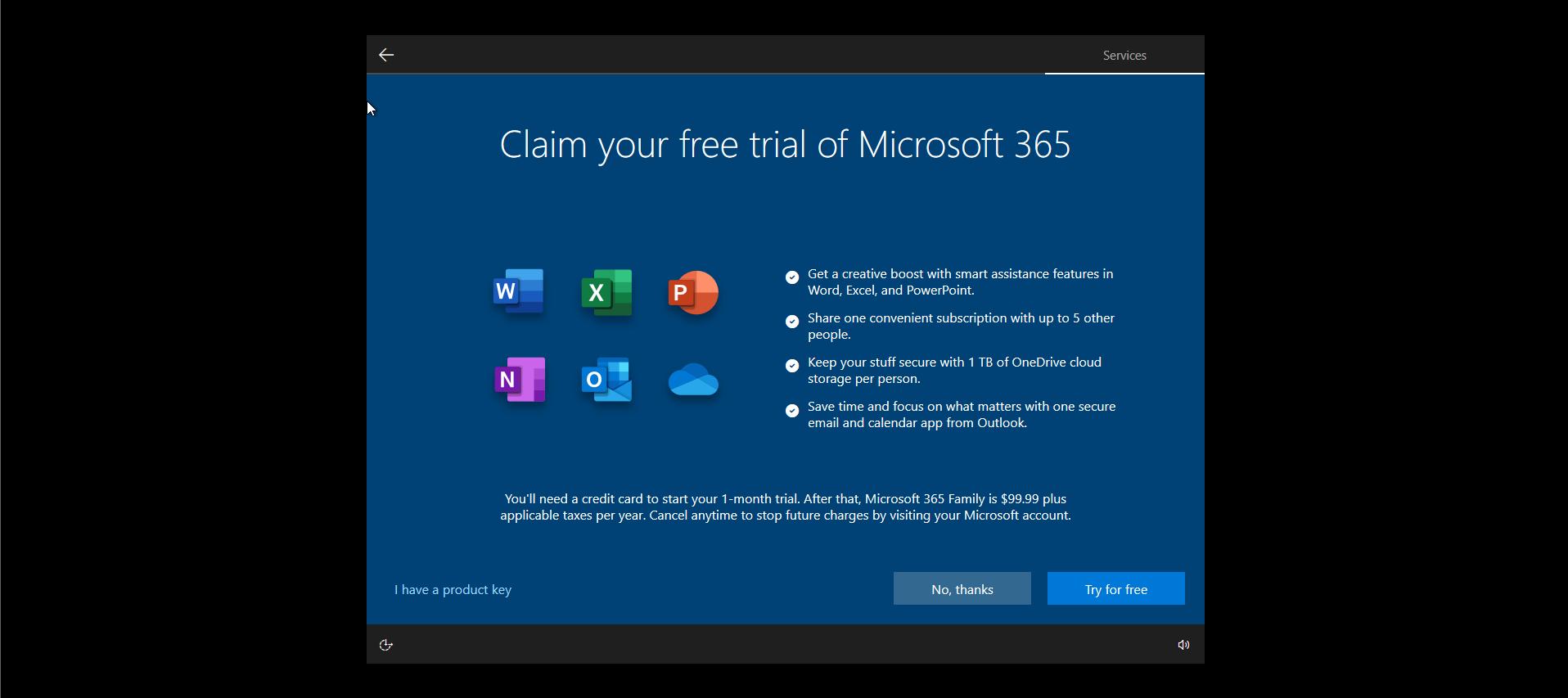 Windows 10 Install Options Office 365