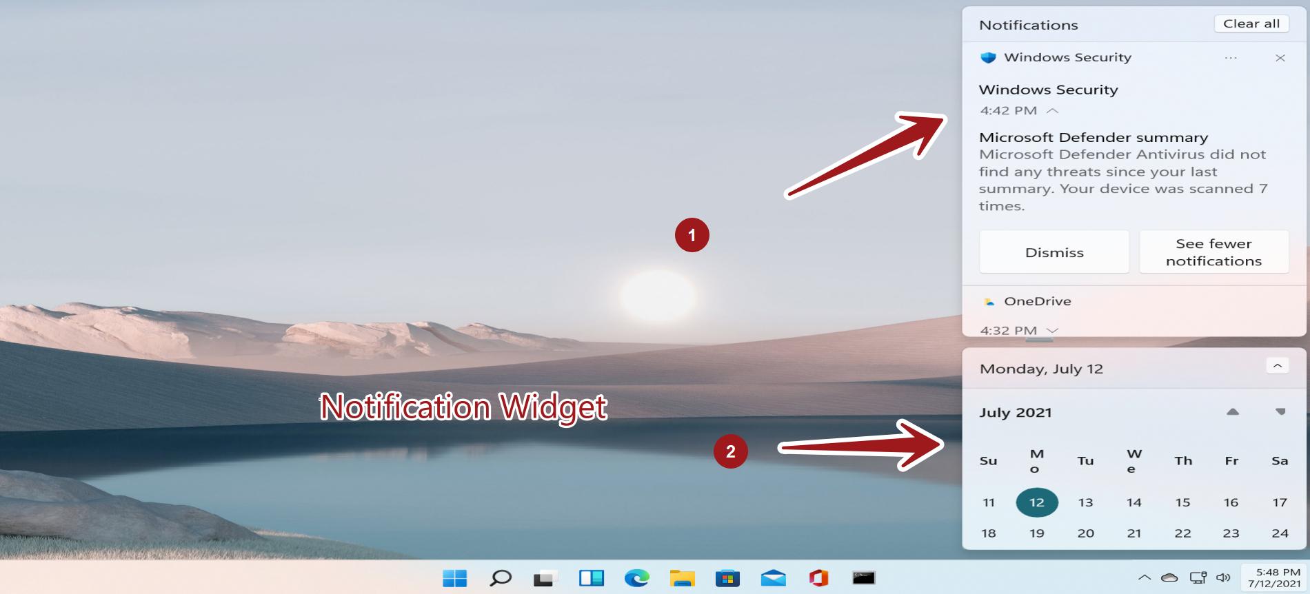 Windows11 Notification Widget