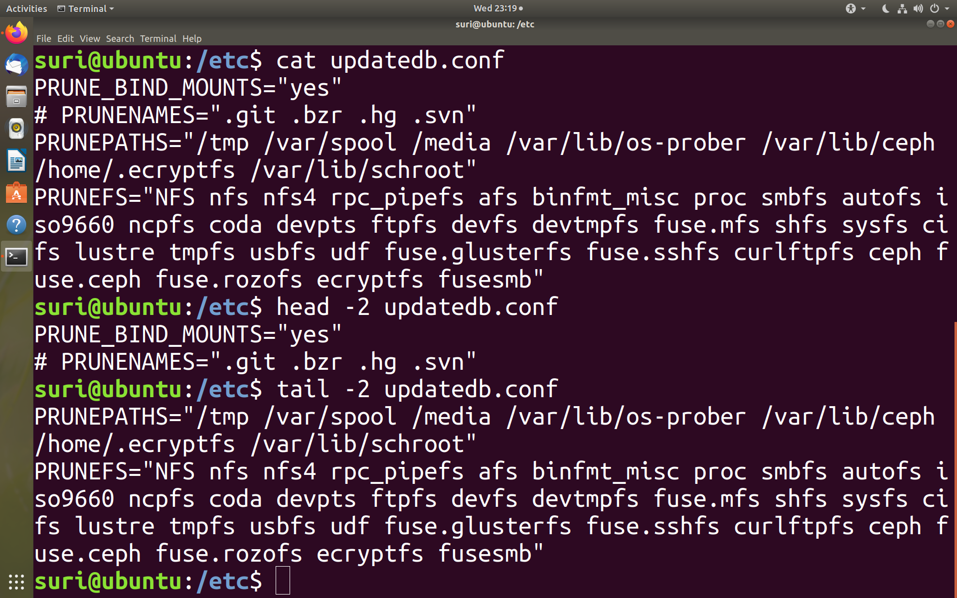 Working with files in Linux