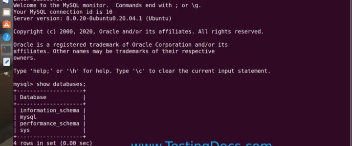 Mysql Server instance Linux