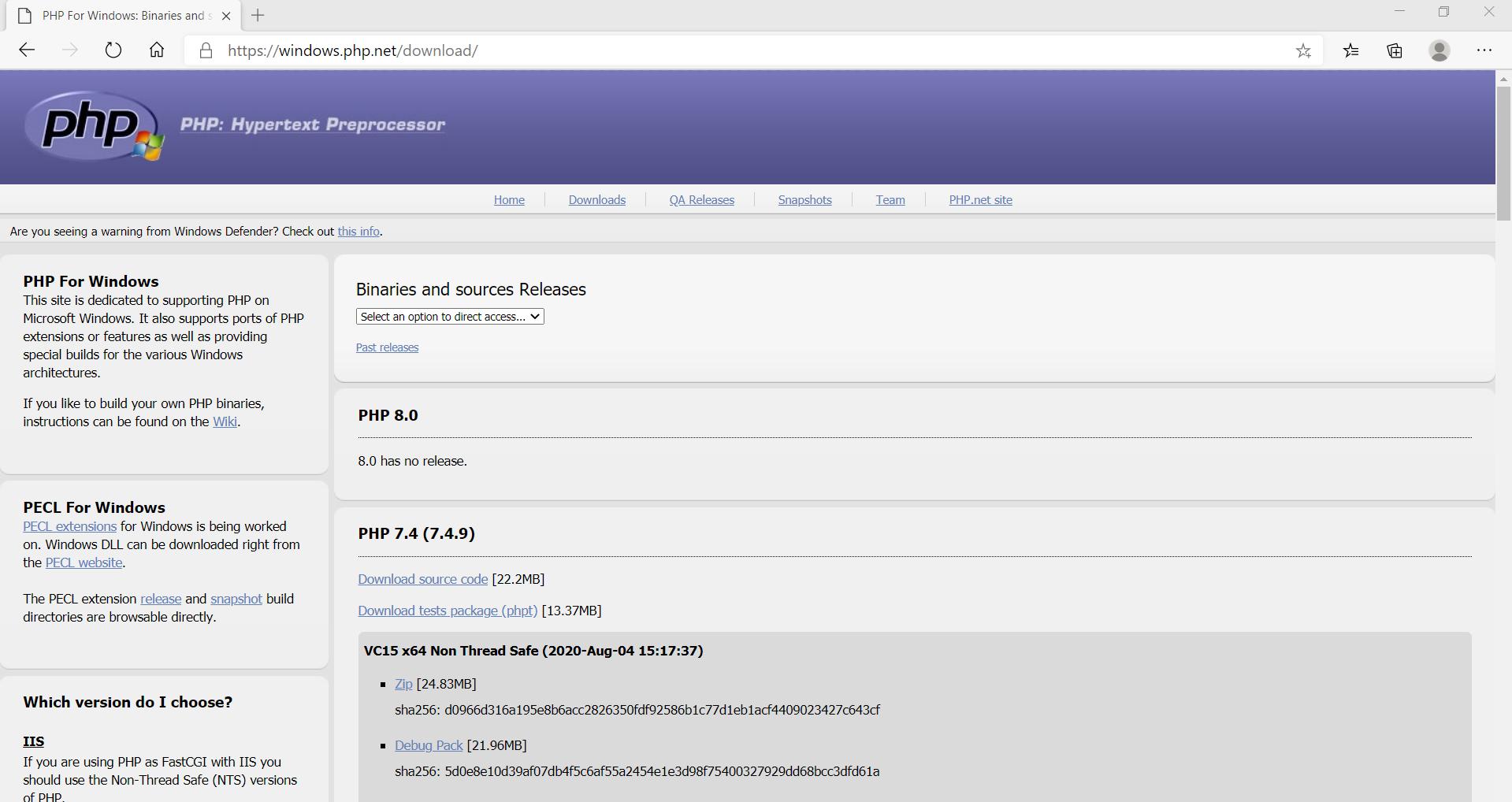 php download website